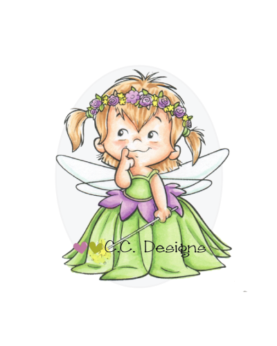 C.C. Designs sello caucho fairy twila