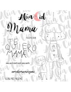 Alua Cid sello Con mamá