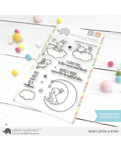 Mama Elephant sello birdie wreath