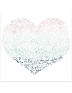 Acetato mintopia Corazón de flores