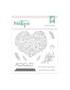 Mintopia Sello Corazón de flores