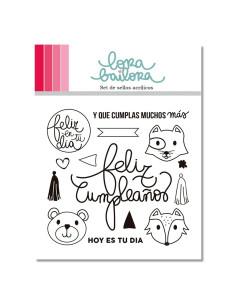 Lora Bailora sello Feliz Cumple