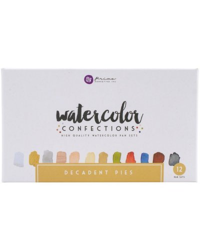 Prima Watercolor Confections Decadent Pies