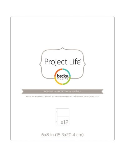 "Project Life Photo Pocket Pages 6""X8"" 12/Pkg"