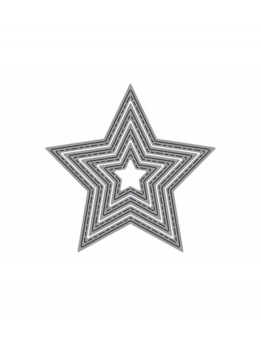 troquel Thinlits Zag estrellas cosidos